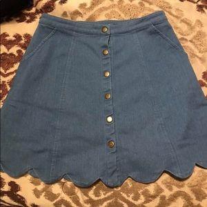Boutique button down skirt.